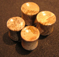 picture jasper, brown, stone ear plugs - 2g - 00g concave, double flare gauges