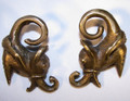 Dayak Borneo, metal, tribal ear weights - heavy ear stretchers