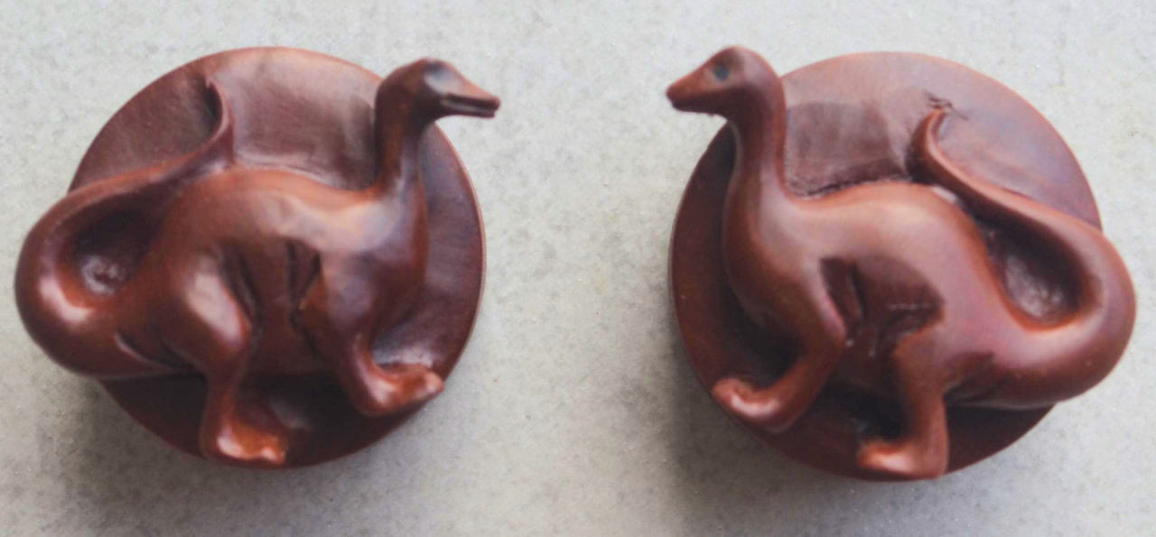 Dinosaur Sabo Wood Ear Plugs Or Spacers In Size 25mm 1 Inch