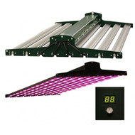 "Illumitex NeoSol DS 520W LED Plant Grow Fixture Luminaire 48"" top and bottom view, controller displayed"