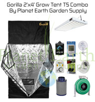 2' x 4' Gorilla Grow Tent 324W T5 Combo Package #1