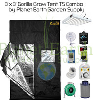 3' x 3' Gorilla Grow Tent 192W T5 Combo Package #1 (GGT33T5C1) UPC 4646003856891