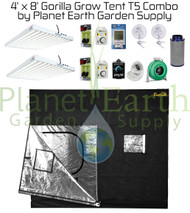 4' x 8' Gorilla Grow Tent 1296W T5 Combo Package #1 (GGT48T5C1) UPC 4646003856198