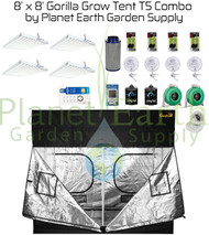 8' x 8' Gorilla Grow Tent Kit 2592W T5 Combo Package #1 (GGT88T5C1)