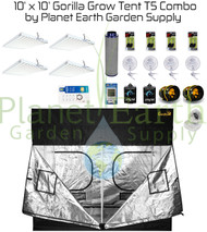 10' x 10' Gorilla Grow Tent Kit 2592W T5 Combo Package #1 (GGT1010T5C1)