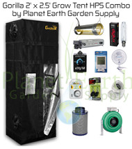 2' x 2.5' Gorilla Grow Tent Kit 400W HPS Combo Package #1 (GGT22HPSC1) UPC:4646003857041
