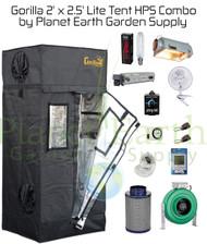 2' x 2.5' Gorilla Grow Tent LITE Kit 400W HPS Combo Package #1 (GGTLT22HPSC1) UPC 4646003857065