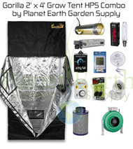 2' x 4' Gorilla Grow Tent Kit 400W HPS Combo Package #1