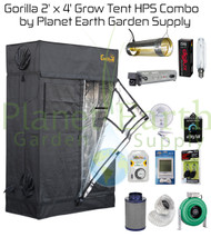2' x 4' Gorilla Grow Tent LITE Kit 400W HPS Combo Package #1