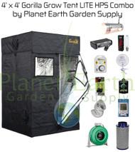 4' x 4' Gorilla Grow Tent LITE Kit 1000W HPS Combo Package #1 (GGTLT44HPSC1) UPC:4646003856136