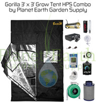 3' x 3' Gorilla Grow Tent Kit 600W HPS Combo Package #1 (GGT33HPSC1) UPC 4646003857140