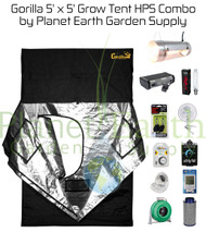 5' x 5' Gorilla Grow Tent Kit 1000W HPS Combo Package #1 (GGT55HPSC1) UPC 4646003856051