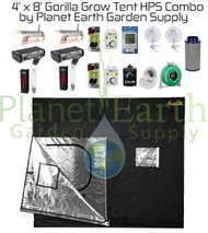 4' x 8' Gorilla Grow Tent Kit 2000W HPS Combo Package #1 (GGT48HPSC1) UPC 4646003856358