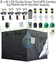 8' x 8' Gorilla Grow Tent LITE Kit 4000W HPS Combo Package #1