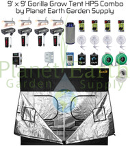 9' x 9' Gorilla Grow Tent Kit 4000W HPS Combo Package #1