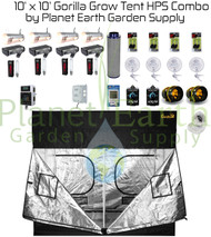 10' x 10' Gorilla Grow Tent Kit 4000W HPS Combo Package #1