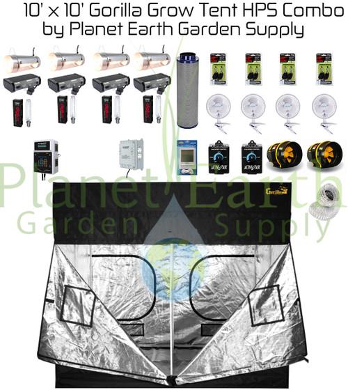 Image 1  sc 1 st  Planet Earth Garden Supply & 10u0027 x 10u0027 Gorilla Grow Tent Kit 4000W HPS Combo Package #1 ...