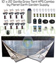 10' x 20' Gorilla Grow Tent Kit 8000W HPS Combo Package #1 (GGT1020HPSC1)