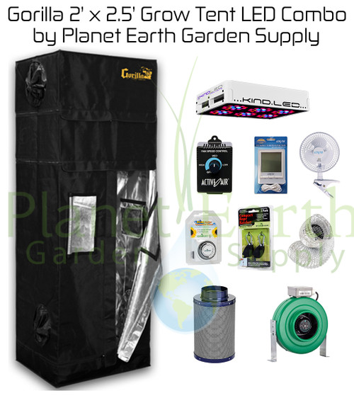2u0027 x 2.5u0027 Gorilla Grow Tent Kit 300W KIND LED L300 ...  sc 1 st  Planet Earth Garden Supply & 2u0027 x 2.5u0027 Gorilla Grow Tent Kit 300W KIND LED L300 Package #1 ...
