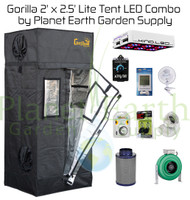 2' x 2.5' Gorilla Grow Tent LITE Kit 300W KIND LED L300 Package #1