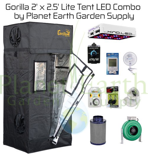 2u0027 x 2.5u0027 Gorilla Grow Tent LITE Kit 300W KIND LED L300 ...  sc 1 st  Planet Earth Garden Supply : 2x2 grow tent kit - memphite.com