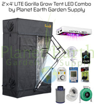 2' x 4' Gorilla Grow LITE Tent Kit 450W KIND LED L450 Package #1