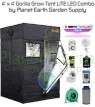 4' x 4' Gorilla Grow Tent LITE Kit KIND LED XL750 Package #1 (GGTLT44LEDC1) UPC:4646003856105