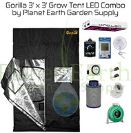 3' x 3' Gorilla Grow Tent Kit KIND LED L450 Combo Package #1 (GGT33LEDC1) 4646003863127