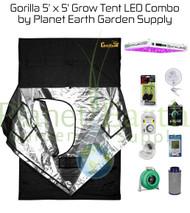 5' x 5' Gorilla Grow Tent Kit KIND LED XL1000 Package #1 (GGT55LEDC1)