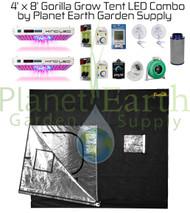 4' x 8' Gorilla Grow Tent Kit KIND LED Dual XL750 Combo Package #1 (GGT48LEDC1) UPC 4646003854972