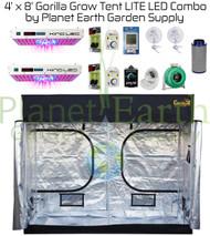 4' x 8' Gorilla Grow Tent LITE Kit KIND LED DUAL XL750 Combo Package #1 (GGTLT48LEDC1) UPC 4646003854958