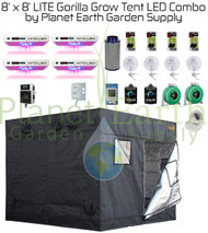 8' x 8' Gorilla Grow Tent LITE Kit KIND LED QUAD XL750 Combo Package #1
