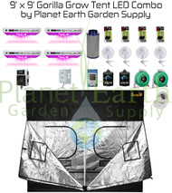 9' x 9' Gorilla Grow Tent Kit KIND LED QUAD XL1000 Combo Package #1