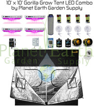 10' x 10' Gorilla Grow Tent Kit KIND LED QUAD XL1000 Combo Package #1