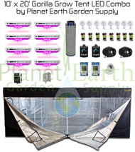 10' x 20' Gorilla Grow Tent Kit KIND LED OCTA XL1000 Package #1 (GGT1020LEDC1)