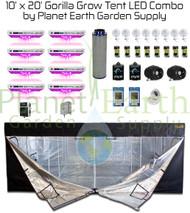 10' x 20' Gorilla Grow Tent Kit KIND LED OCTA XL1000 Package #1 (GGT1020LEDC1)