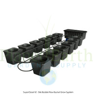 SuperCloset 12-Site Bubble Flow Buckets Grow System (SC12BFB)