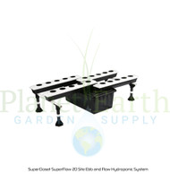 SuperCloset SuperFlow 20-Site Ebb and Flow Hydroponic System