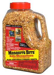 "Combat the Zika Virus by killing mosquitos with Mosquito Bits.  Mosquito Dunks® kill mosquito larvae before they can become biting, disease-carrying adults.  The active ingredient in Mosquito Dunks® is a naturally occurring bacterium called BTI that is deadly to mosquito larvae but harmless to other living things.  Sprinkle these fast acting granules in any standing water where larvae are present – including water gardens. ""Quick Kill"" – within 24 hours!"