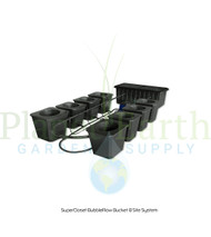 SuperCloset 8-Site Bubble Flow Buckets Grow System (SC8BFB)