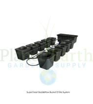 SuperCloset 10-Site Bubble Flow Buckets Grow System (SC10BFB)