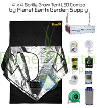 4' x 4' Gorilla Grow Tent Kit LED Package (GGT44LED) UPC:4646003856020