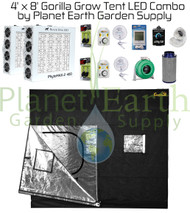 4' x 8' Gorilla Grow Tent Kit LED Combo Package (GGT48LED) 4646003856174
