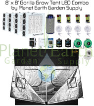 8' x 8' Gorilla Grow Tent Kit LED Combo Package (GGT88LED)