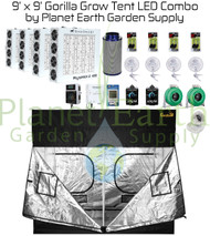 9' x 9' Gorilla Grow Tent Kit LED Combo Package (GGT99LED)
