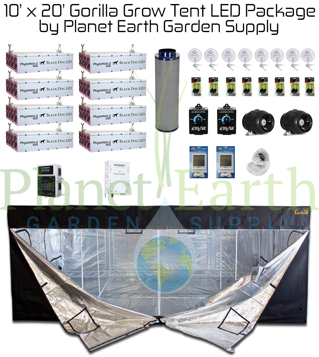 10' x 20' Gorilla Grow Tent Kit LED Package