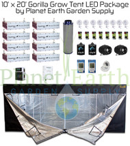 10' x 20' Gorilla Grow Tent Kit LED Package (GGT1020LED) UPC:4646003856341