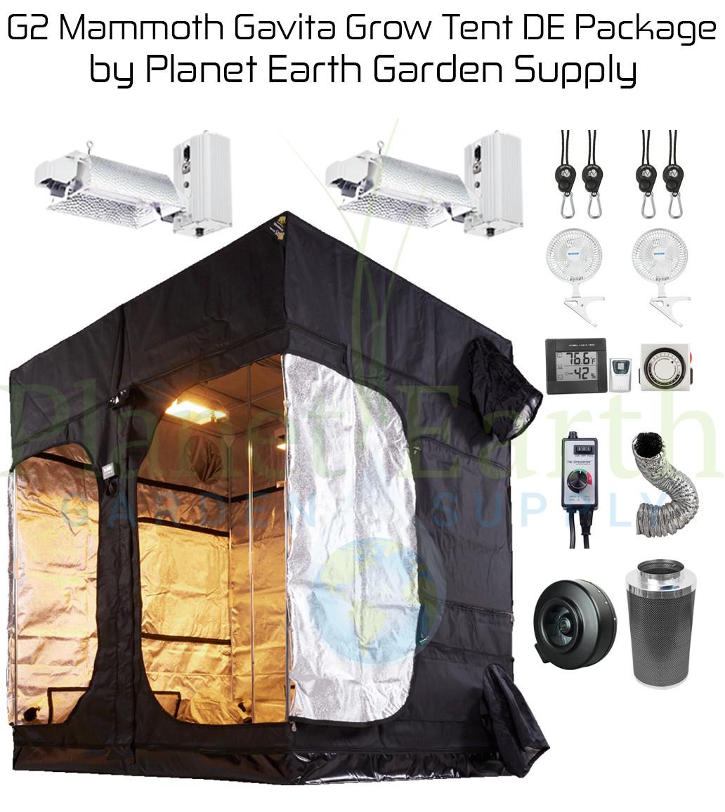 Mammoth Elite Gavita G2 Grow Tent 6/750 Watt DE Combo Package