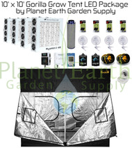 10' x 10' Gorilla Grow Tent Kit with LED and Hydroponic System Custom Package (GGT1010LEDHYDRO) UPC:4646003859311