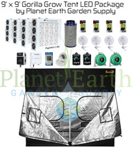 9' x 9' Custom Gorilla Grow Tent Kit with LED and Hydroponic System (GGT99LEDHYDRO) UPC 4646003859632